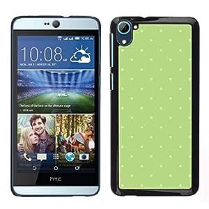 Caucho caso de Shell duro de la cubierta de accesorios de protección BY RAYDREAMMM - HTC Desire D826 - Modelo de lunar blanco verde musgo