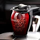 yise-D001 Rock Car Holder Universal Air Vent Aromatherapy Zeolite Aroma Air Freshener Luxury Natural Zeolite Fragrance Car Perfume 4 color in(Black & Purple & Yellow & Red)