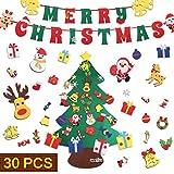 JOKBEN 3.3 ft DIY Felt Christmas Tree Set, with
