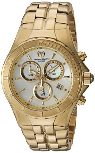 Technomarine Women's Sea Pearl Quartz Watch with Stainless-Steel Strap, Gold, 10 (Model: TM-715016)