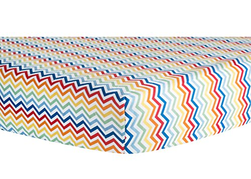 Trend Lab Crib Sheet, Rainbow Chevron