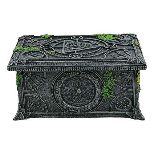 inilobox Celestial Moon Astrology Pentagram Tarot Card Deck Holder Jewelry Box F3 by inilobox (Image #4)