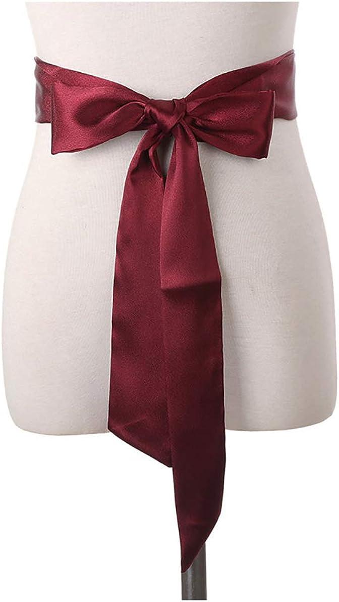 Long Ribbon Sash Belt for Dress Wedding Sash Bridal Silk Satin Belts Dress JW61