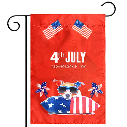 Cheap Celebration Parade Flags, July 4th Independence Day National Day USA US American Garden Flags,Anniversary Celebration, National Day Celebration,Double-Sided (American Flag, Windmill, Dog)