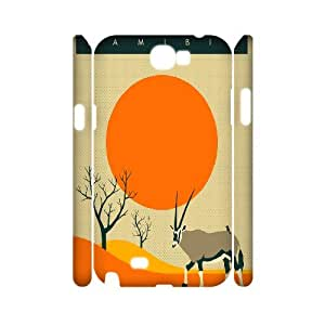 3D Samsung Galaxy Note 2 Case, NAMIBIA Travel Poster Case for Samsung Galaxy Note 2 {White}