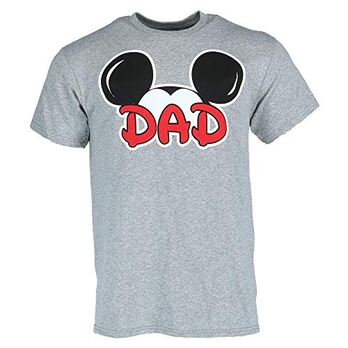 Disney Mickey Mouse Dad Fan T Shirt, Medium Gray - Gray Mouse T-shirt