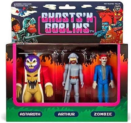 GHOST /'N GOBLINS SUPER 7 3 Pack réaction Set Figure LICORNE Arthur squelette