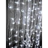 Electric LED Light Gossamer Fabric Curtain 3.5' Wide X 8' Long by Gossamer Curtain