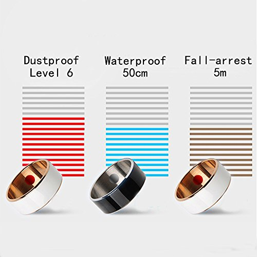 Waterpro Of NFC Ringly Smart Ring Enabled Wearable Technology with Health  Stone Universal For android,WindowsMobile,Symbian,Blackberry NFC Mobile
