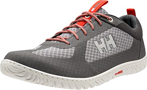 Helly Hansen Men's Santiago L.20 Boating Shoes Grey (Charcoal/ Silver Grey/ Ebony/ Grenadine) zMvSH