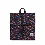 Herschel Supply Co. City Mid-Volume Backpack, Black Mini Floral/Black Synthetic Leather