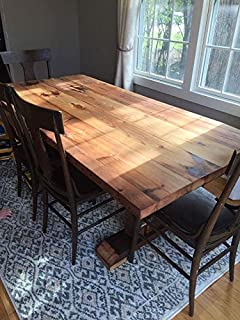 Amazon.com - Viking Log Furniture NBWVT64 Barnwood Dining Table in ...