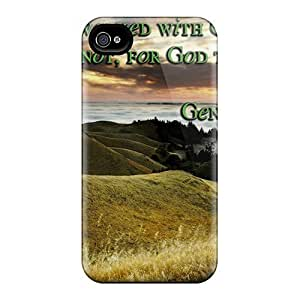 First-class Case Cover For Iphone 4/4s Dual Protection Cover Enoch Walked With God