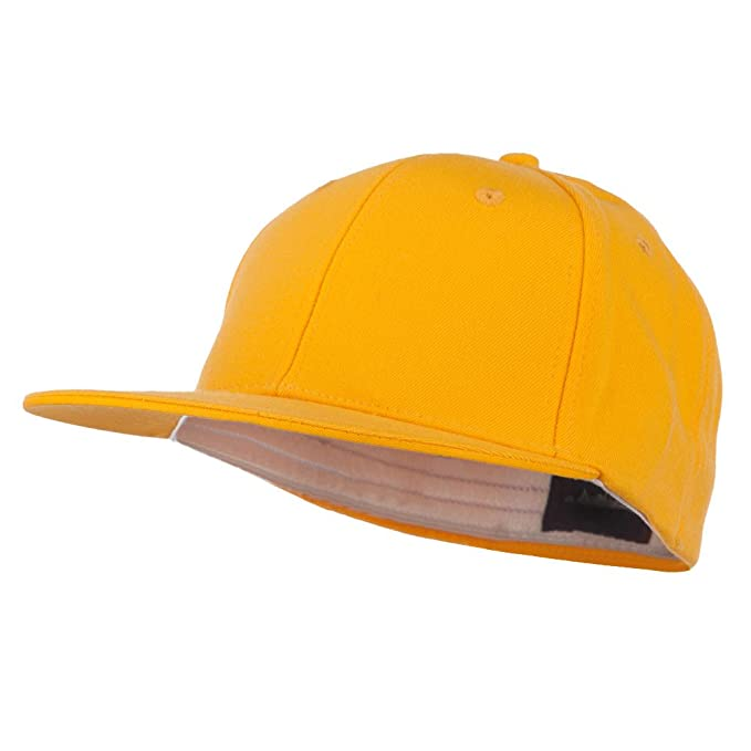 4a3acaf931d DECKY Flat Bill Fitted Flex Cap - Yellow OSFM at Amazon Men s ...