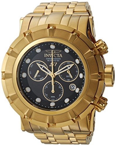 Invicta Men's S1 Rally Quartz Watch with Stainless-Steel Strap, Gold, 16 (Model: 23954)