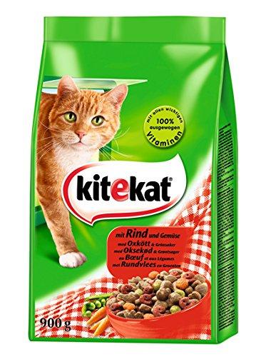 Kitekat Katzenfutter Rind und Gemüse, 5 Packungen (5 x 900 g)