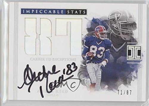 (Andre Reed #71/87 (Football Card) 2017 Panini Impeccable - Impeccable Stats Autographs #IST-AR )