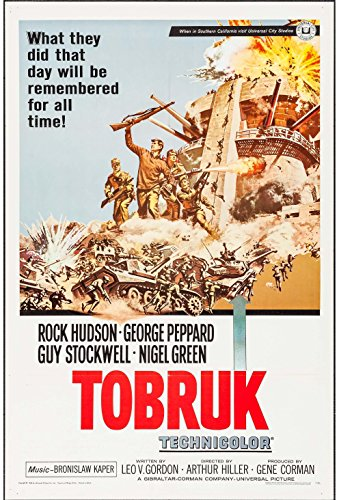 TOBRUK original 1967 27x41 one sheet movie poster ROCK HUDSON/NIGEL GREEN/GEORGE PEPPARD