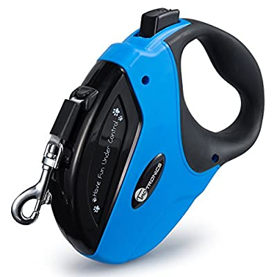 Retractable Dog Leash, TaoTronics Pet Leash Dog Lead 16ft for Small Medium Large Dogs up to 110lbs, Tangle Free, One Button Break & Lock +Free LED Indicator (ABS Casing, Anti-Skid Grip, Nylon Ribbon)