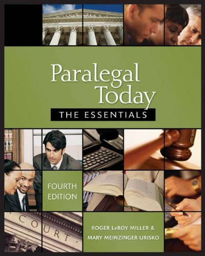 Paralegal Today: The Essentials, 4E