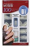 KISS Nails 100 Full Cover Medium Length Nails Kit, Active Square 1 ea (Pack of 4)