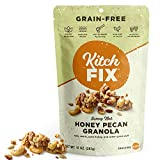 Kitchfix Grain-Free Paleo Granola | Vegan Plant-Based Protein From Nuts and Seeds | Gluten-Free, Low Sugar, Low Carb Granola | Roasted in Pure Coconut Oil | Honey Pecan 10 Ounce