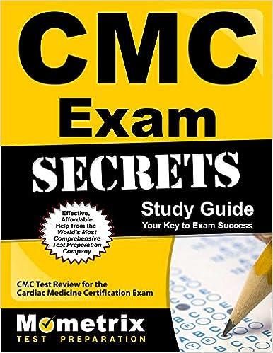CMC Exam Secrets Study Guide: CMC Test Review for the Cardiac ...