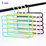 Zhao Xiemao Multifunctional 5-Layer Tie Rack Closet Hangers Space Saver Storage Rack for Hanging Jeans Scarf Tie, Family Economical Storage.