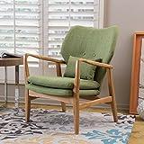 Cheap Haldisa Wood Fabric Club Chair (Green)