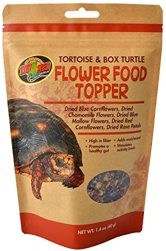 (Zoo Med Tortoise  and Box Turtle Flower Food Topper, 1.4 ounce)