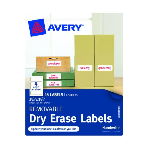 Avery Removable Labels 3 5 Inches 40164
