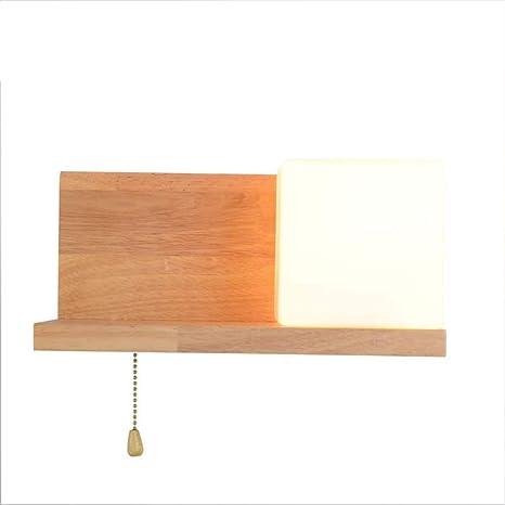Admirable Ccsun E26 Wooden Wall Sconce Shelf Modren Wall Lamp Bedside Download Free Architecture Designs Lectubocepmadebymaigaardcom