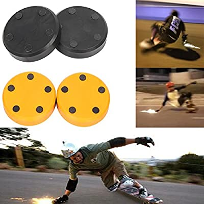 urxcellent A Pair of Replacement Flicker Flash Spark Slider Block 2pcs for Skateboard Longboard Sliding Gloves : Sports & Outdoors