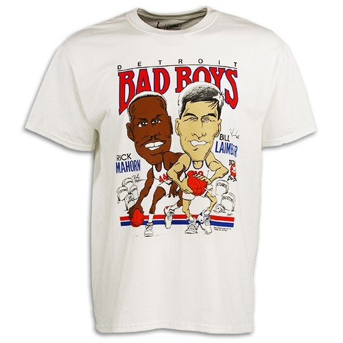 Detroit Pistons Bad Boys Apparel- Authentic Vintage Laimbeer-Mahorn T-Shirt ()