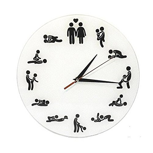 USUNO Wall Clock With Funny Design for Young Couples to Decorate the (Golf Sundial)