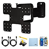 Sanus Super Slim Motion Wall Mount (VMF322) for 26''-47'' TVs (Extends 22'') w/ Bundle includes, Screen Cleaning Kit, Magnetic Stud Finder, Carpenter Pencil, Microfiber Cleaning Cloth, 2 HDMI Cables