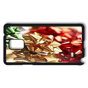 Samsung Galaxy Note 4 Case, Christmas Bow Gift Bows PC Case Cover Protector for Samsung Galaxy Note 4 Hard Plastic Black