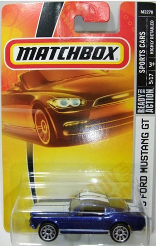 Saleen Mustang Gt (Matchbox Sports Cars 65 Ford Mustang GT Blue Detailed Diecast #13 Scale 1/64 Collector by)