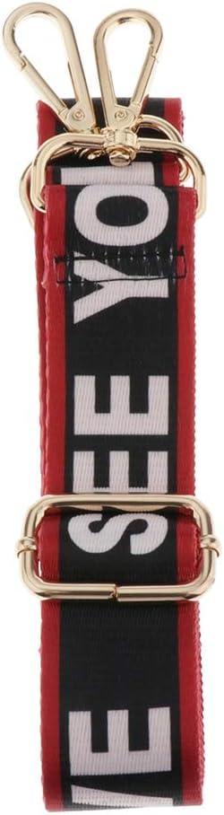 chiwanji Taschengurt Nylon Schulterriemen Schultergurt Trageriemen f/ür Schultertaschen Goldschnalle Breit 3,8cm L/änge Verstellbar 140 cm