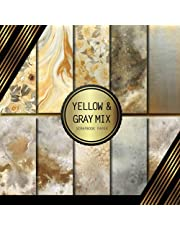 Scrapbook Paper: Yellow & Gray Mix: Double Sided Craft Paper For Card Making, Origami & DIY Projects | Decorative Scrapbooking Paper Pad