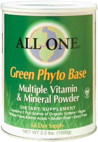 All One Nutritech Green Phyto Base Multiple Vitamin and Mineral Powder – 2.2 lbs