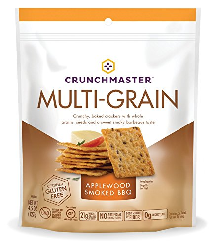 TH Foods Crunchmaster Multi-Grain Crackers Gluten Free Non GMO, Applewood Smoked BBQ, 4.5 Ounce - Gluten Wheat Starch