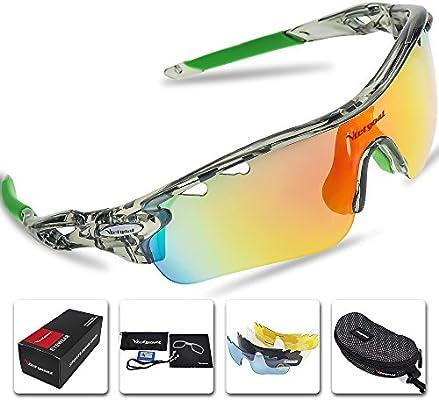 Gafas de sol polarizadas deportivas para hombre y mujer de Victgoal con 5 lentes intercambiables, montura TR90 y protección UV400