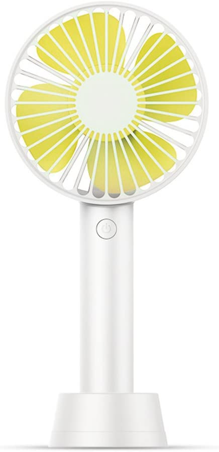 Color : Green Jajx-comac USB Personal Desk Fan Mini USB 3 Speeds Rechargeable Portable Handheld Table Desktop Fan for Home Office Table