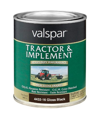 (Valspar 4432-16 Gloss Black Tractor and Implement Paint - 1 Quart)