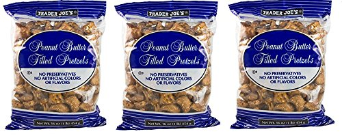 Trader Joe's Peanut Butter Filled Pretzels 1 lb. (Pack of ()
