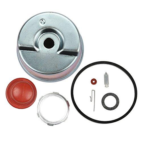 Panari Carburetor Float Bowl + Needle Seat Kit + Primer Bulb for Tecumseh 631867 631021B 631021A 631021 36045A Kit Tecumseh Part