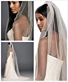 Passat Diamond White 1 Tier 5M Cathedral wedding vails beautifully beaded scallop edge Wedding Bridal Veil 137