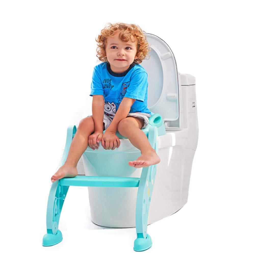 SCYTSD Baby Toddler Potty Training Toilet Adjustable Kid Toilet Trainer with Step Stool Ladder for Boy and Girl,Blue