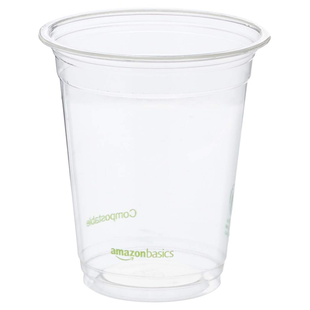 AmazonBasics Compostable PLA Cold Cup, 12 oz, Clear, 1,000-Count